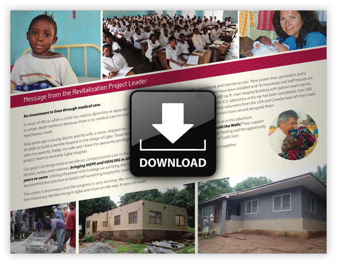 Mission hospitals in Africa project brochure