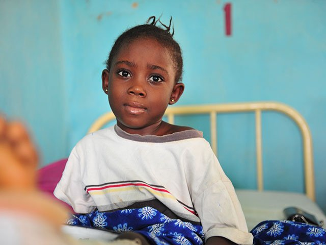 Little girl patient at Egbe Hospital