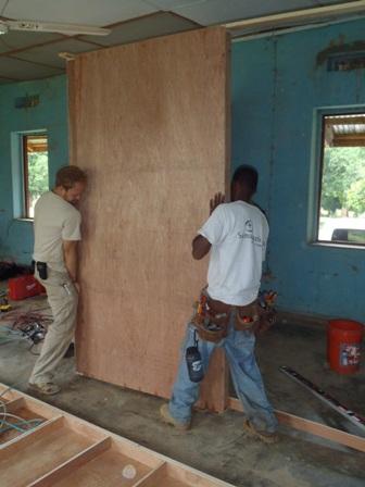 Installing Temporary Interior Walls