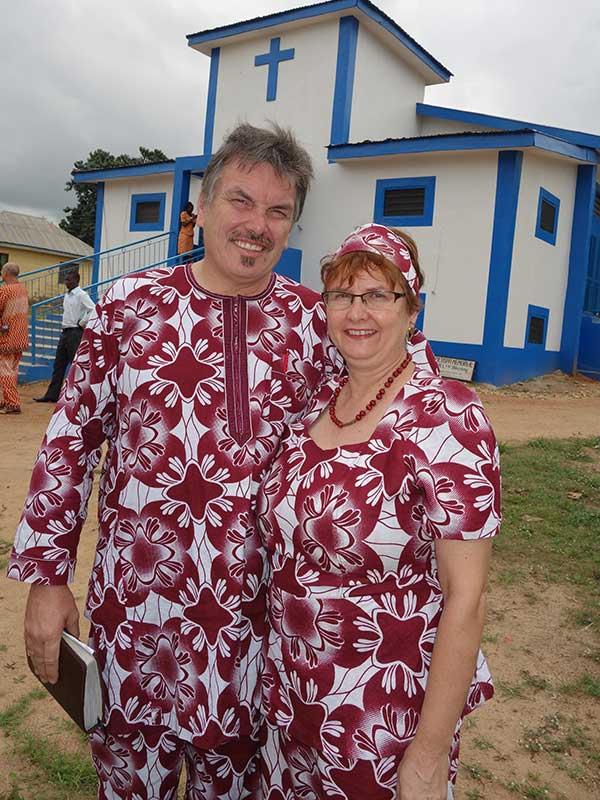 Egbe missionaries at church