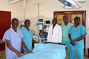 Orthopedic surgery at Egbe Hospital