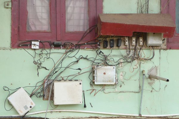 Egbe Hospital old wiring and battery