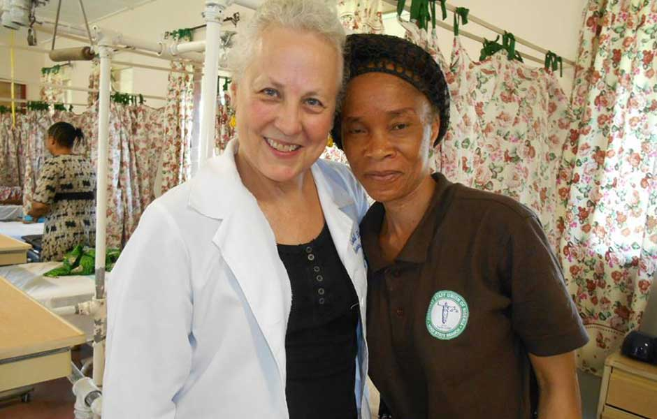 dr duncan with patient in egbe
