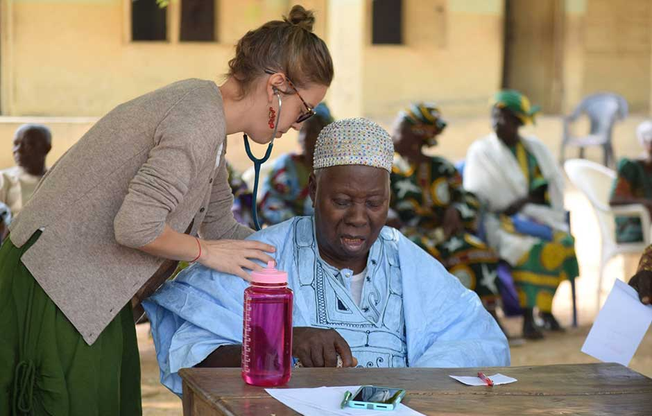 dr jen and patient in egbe