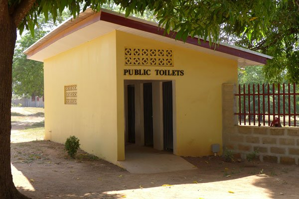 Egbe Hospital toilets before revitalization