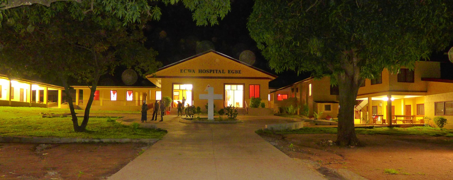 Egbe Hospital at night