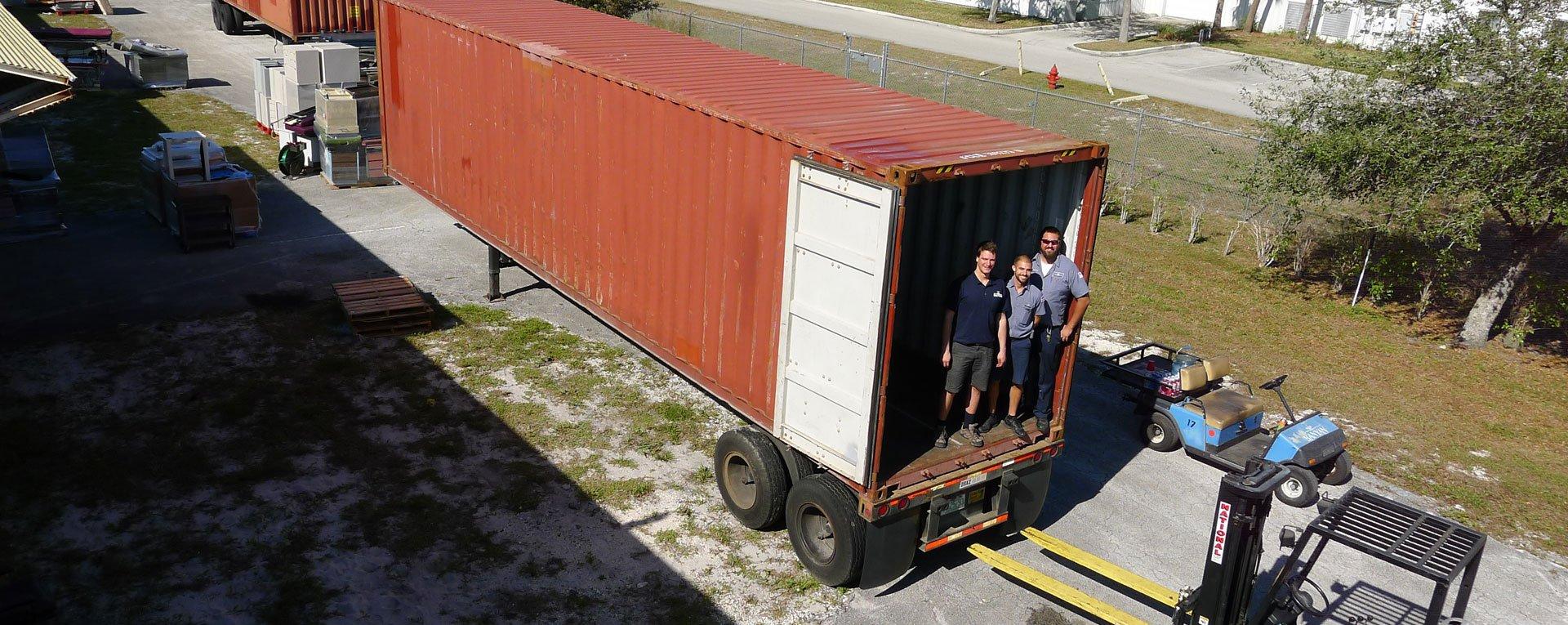 Loading truck for Egbe Africa
