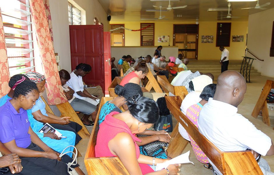 prayer at egbe hospital chapel
