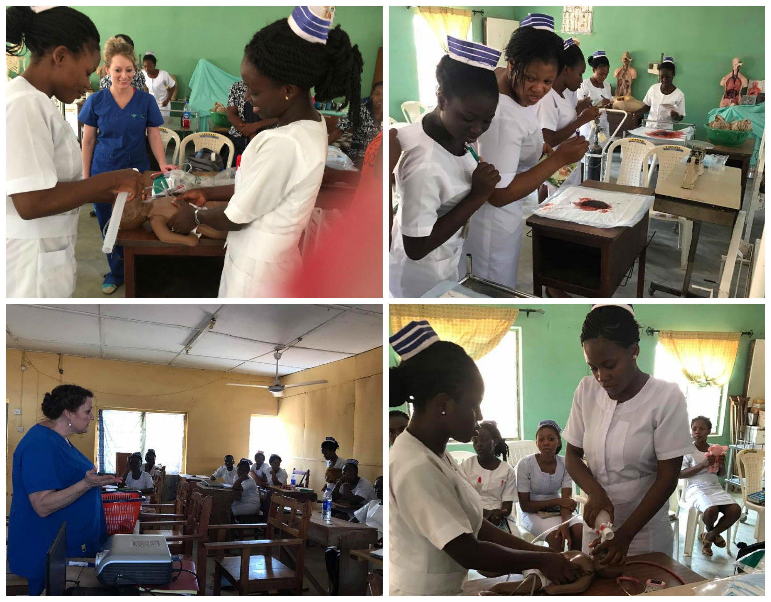 Egbe nurses training neonatal resuscitation