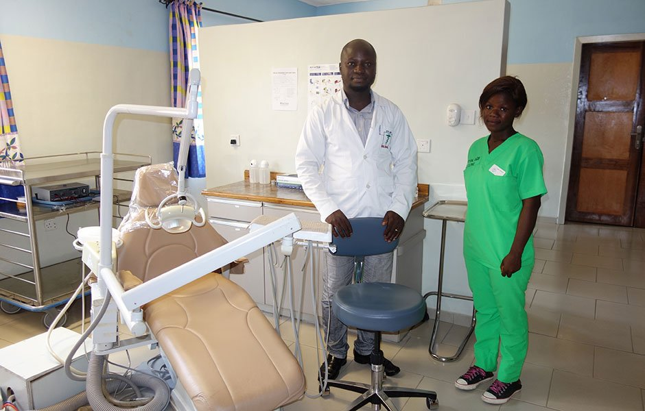 Egbe dentist and assistant