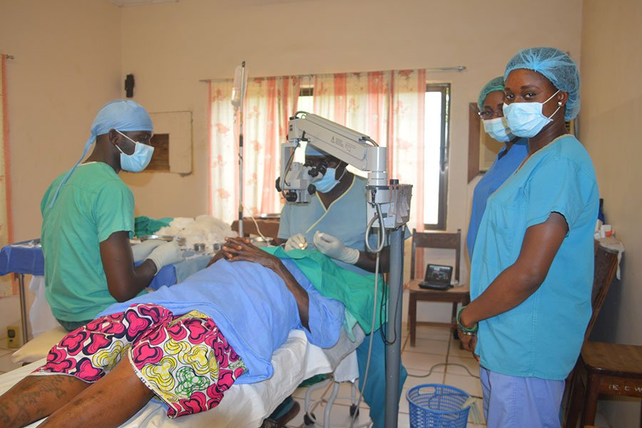 Eye surgery at Egbe Eye Center
