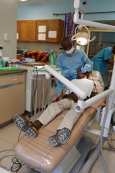 Dental procedure at Egbe Dental Clinic