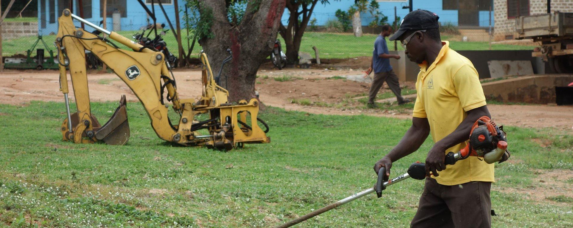 grounds maintenance at Egbe Hospital