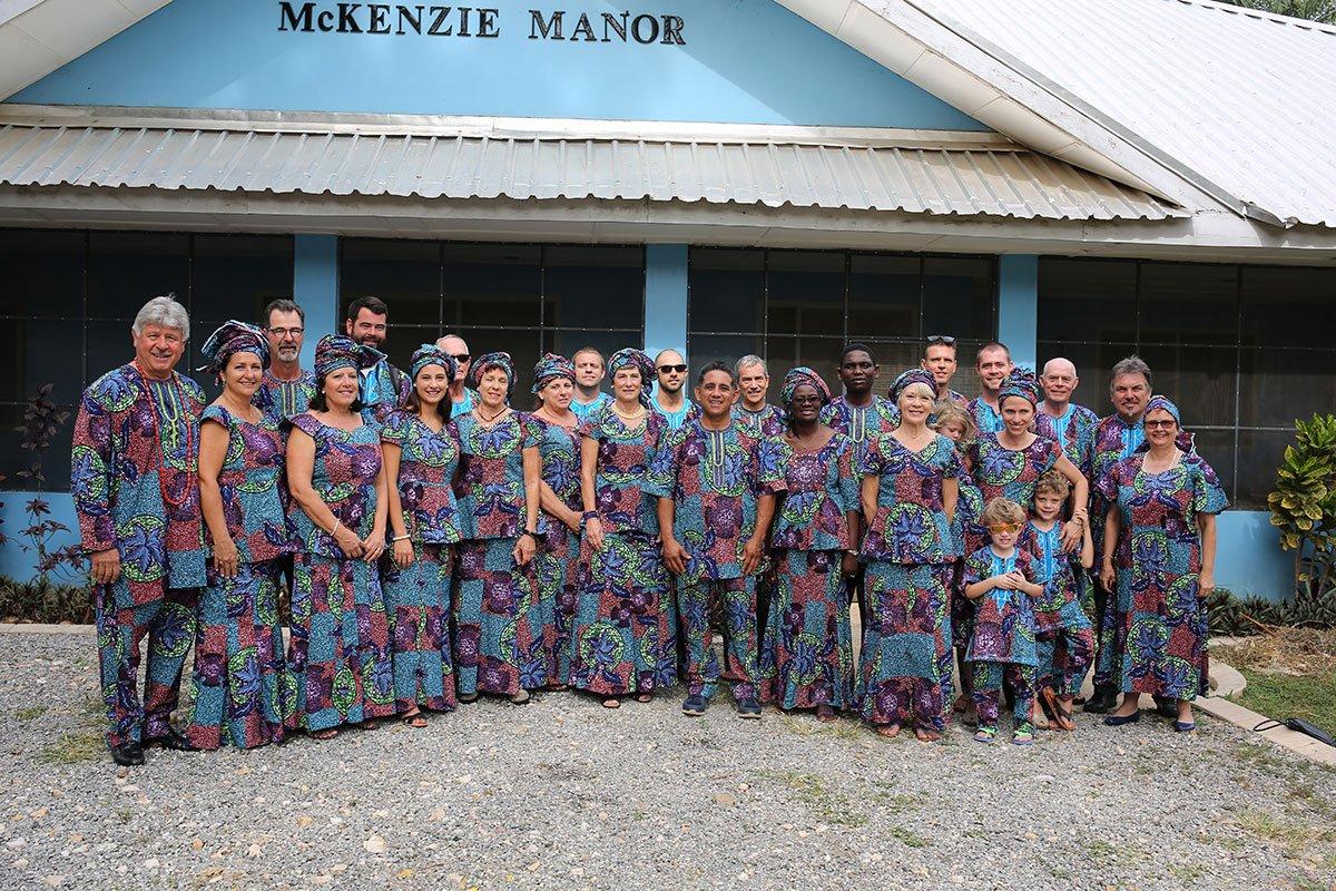 Volunteers at Egbe Hospital