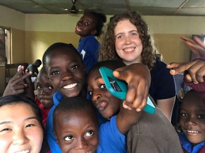Julianne and friends at Egbe Hospital