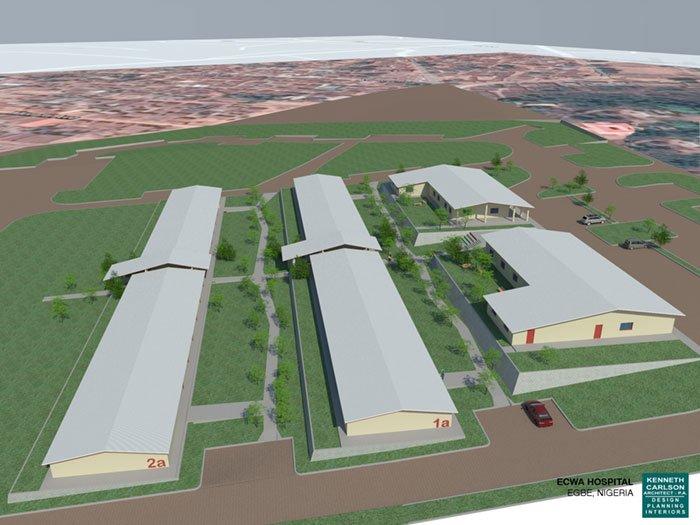 ECWA School of Nursing Dorm Aerial Rendering