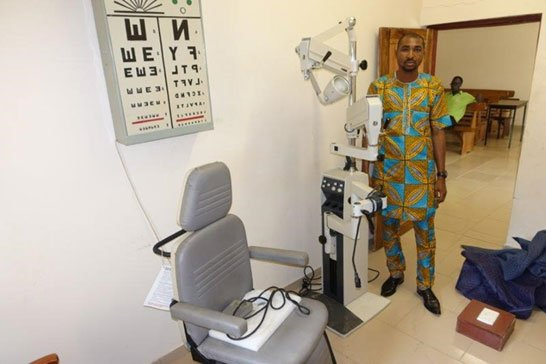 Optometrist at Egbe Hospital