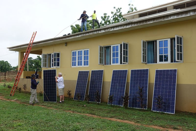 Solar panel installation Egbe