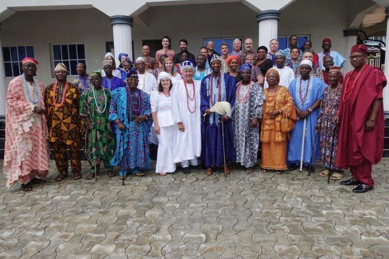 Egbe leaders with revitalization volunteers