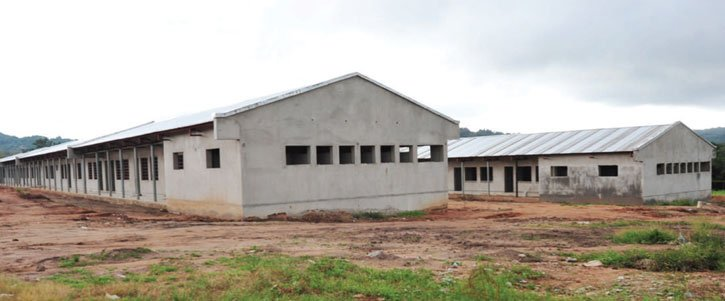 Nearly completed dormitories